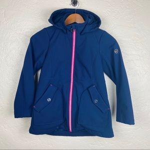 Michael Kors Girl's Navy Blue Hooded Jacket